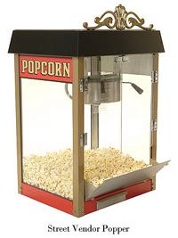 Benchmark Street Vendor Antique Popcorn Machines: 4, 6, or 8 oz***FREE Shipping***