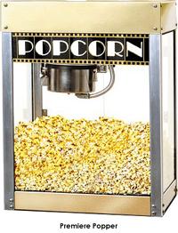 Benchmark Cinema Style Premiere Popcorn Machine: 4oz or 6 oz***FREE Shipping***