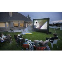 Open Air Outdoor Home Projector Screen 12x7