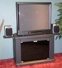 4D Concepts Home Entertainment Cart/Charcoal PVC Laminate