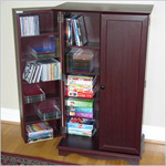 4D Concepts Multimedia Storage Unit Cherry/Beech