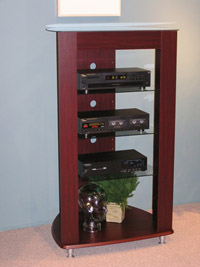 4D Concepts Audio Entertainment Stand/Cherry Laminate Glass