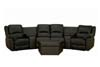 Home Theater Seating Curved Row of 4 Black
