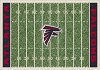 Atlanta Falcons NFL Football Field Rug