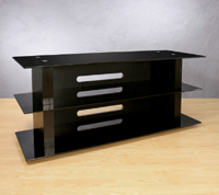 Versatile Black Finish Audio Video System