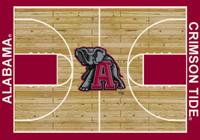 Alabama Crimson Tide College Court Rug (Name in baseline/logo @ centercourt)