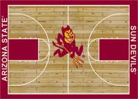 Arizona State Sun Devils College Basketball Court Rug