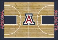 Arizona Wildcats College Court Rug (Name in baseline/logo @ centercourt)