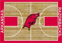 Arkansas Fayetteville Razorbacks College Basketball Court Rug