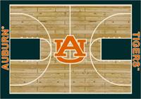 Auburn Tigers College Basketball Court Rug