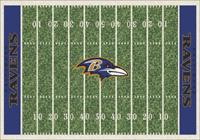 Baltimore Ravens NFL Football Field Rug