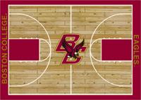 Boston Eagles College Basketball Court Rug