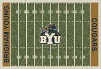 Brigham Young Cougars College Basketball Court Rug