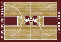 Mississippi State Bulldogs College Basketball Court Rug