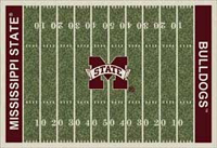 Mississippi State Bulldogs College Football Field Rug