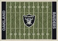 Oakland Raiders NFL Football Field Rug