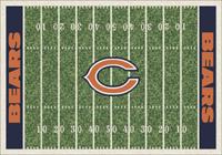 Chicago Bears NFL Football Field Rug