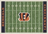 Cincinnati Bengals NFL Football Field Rug