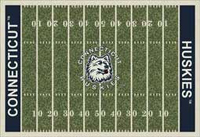 Connecticut Huskies College Football Field Rug
