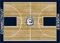 Connecticut Huskies College Basketball Court Rug