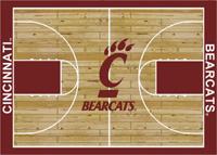 Cincinnati Bearcats College Basketball Court Rug
