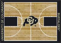 Colorado Buffaloes College Basketball Court Rug