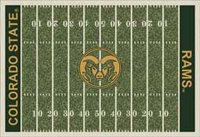 Colorado State Rams College Football Field Rug