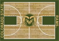 Colorado State Rams College Basketball Court Rug