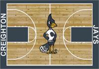 Creighton Bluejays College Basketball Court Rug