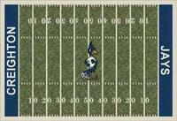 Creighton Bluejays College Football Field Rug