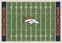 Denver Broncos NFL Football Field Rug