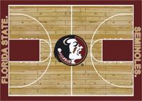 Florida State Seminoles College Basketball Court Rug