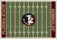 Florida State Seminoles College Football Field Rug