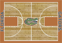 Florida Gators College Basketball Court Rug