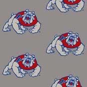 Fresno State Bulldogs College Team Logo Rug (repeated logo)