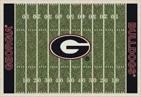 Georgia Bulldogs College Football Field Rug