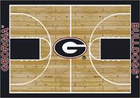 Georgia Bulldogs College Basketball Court Rug