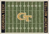 Georgia Tech Yellow Jackets Football Field Rug