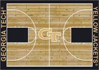 Georgia Tech Yellow Jackets Basketball Court Rug