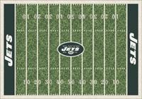 New York Jets NFL Football Field Rug