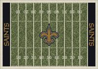 New Orleans Saints NFL Football Field Rug