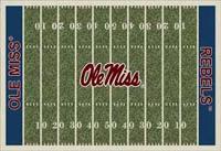 Mississippi Rebels College Football Field Rug