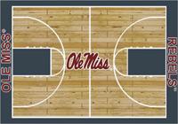 Mississippi Rebels College Basketball Court Rug