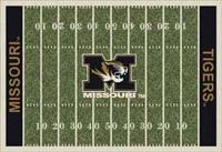 Missouri Tigers College Football Field Rug