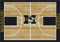 Missouri Tigers College Basketball Court Rug