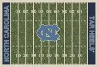 North Carolina Tar Heels College Football Field Rug