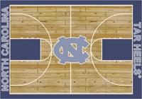 North Carolina Tar Heels College Basketball Court Rug