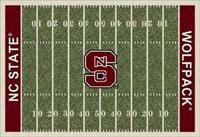 North Carolina State Wolfpack College Football Field Rug