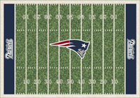 New England Patriots NFL Football Field Rug