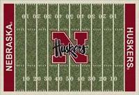 Nebraska Huskers College Football Field Rug
